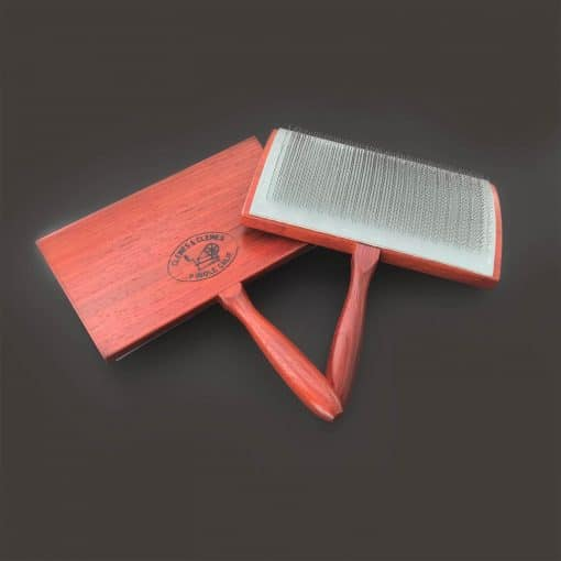 Padauk Curved Back Wool Cards